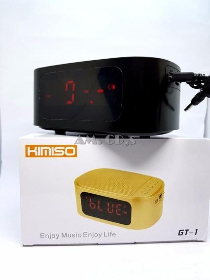Rádio Relógio Kmiso Gt-1 Com Entrada Usb/sd E Fm