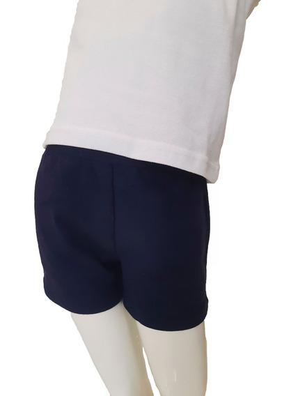 Short Rustico Azul Uniforme Escolares Niña Nena T 6 Al 16