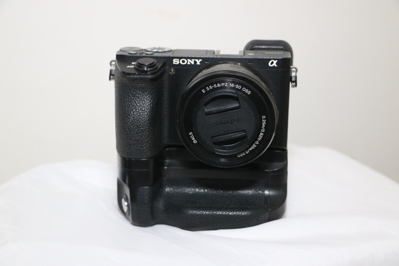 Câmera Sony A6500+lente 16-50+10 Bat+carregador+battery Grip