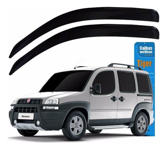 Kit Calha De Chuva Acrílica Fumê Para Fiat Doblo 2013