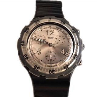 Relógio Swatch Irony Cronógrafo Pulseira Elastica Na Caixa