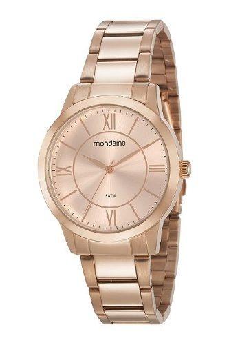 Relógio Mondaine Feminino 53698lpmgre3 Rosé Garantia Nf