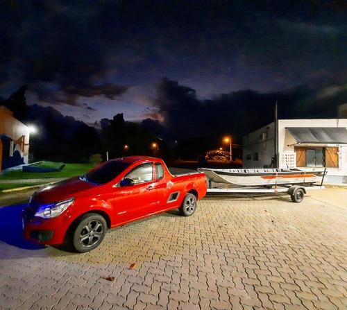 Barco De Aluminio 6 Metros Com Carreta Rodoviária