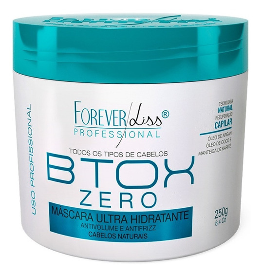 Forever Liss Máscara Btx Zero Hidratante Sem Formol 250g