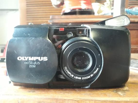 Câmera Fotográfica Olympus Stylus Zoom - Original Antiga