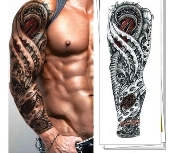 Tatuagem Temporária Masculina Bussola E Rosas Lobo Timeless