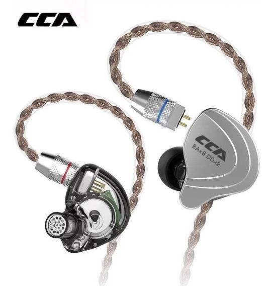 Fone Cca C10 10 Drives Sem Microfone Retorno De Palco + Brin