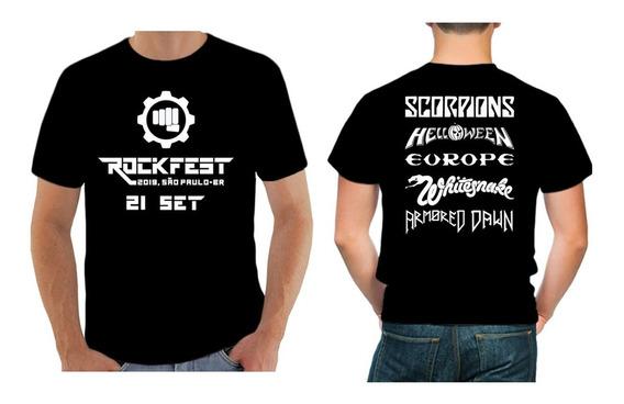 Camiseta Rockfest Festival Allianz Parque São Paulo Unissex