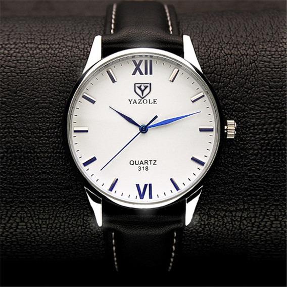 Reloj Yazole Clasico Correa De Cuero