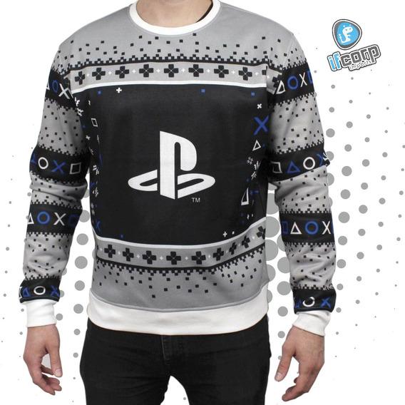 Ugly Sweater Sueter Navideño Playstation Navidad Invierno