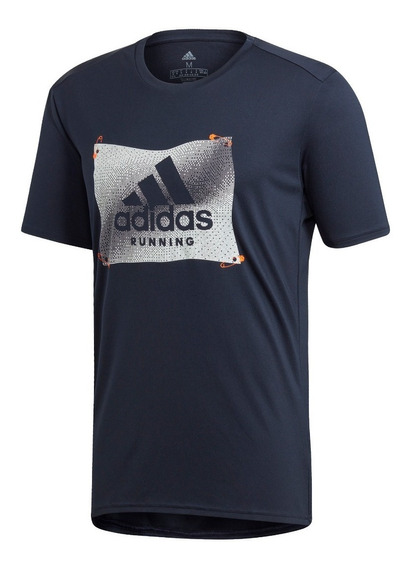 Remera adidas Own The Run Badge Of Sport Graphic De Hombre
