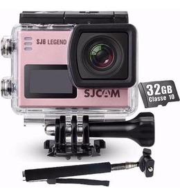 Kit Camera Sjcam Sj6 Legend + Bastao+ 32gb 4k Wifi Filmadora