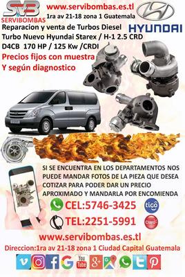 Venta De Turbo Hyundai Starex / H-1 2.5 D4cb Guatemala