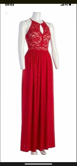Vestido Largo Rojo Fiesta Egresadas