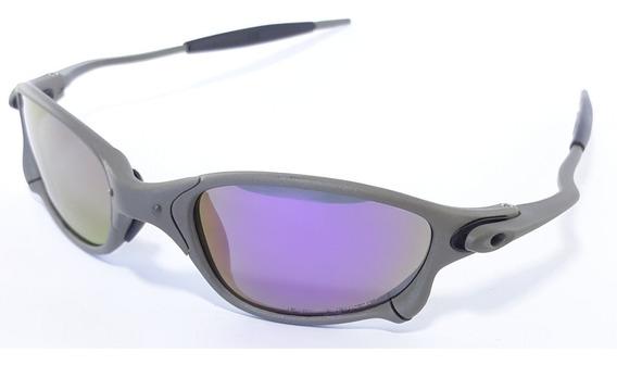 Óculos Double X Metal 24k Lentes Roxa Polarizada Juliet Lupa