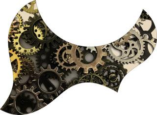 Escudo Palheteira Resinada Violão Aço Jumbo Sônica Gears