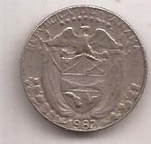 Panama Moneda De 1 Decimo De Balboa Año 1982