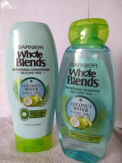 Shampoo Y Acondicionador Garnier Whole Coconut & Aloe Vera