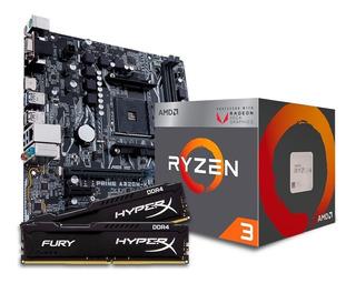 Combo Actualizacion Asus Ryzen 3 2200g Vega 8 + A320 + 8gb