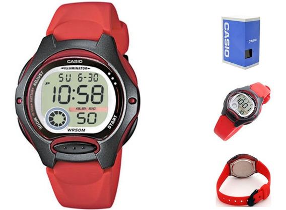 Reloj Casio Digital Lw200 Rojo 4a*watchsalas*