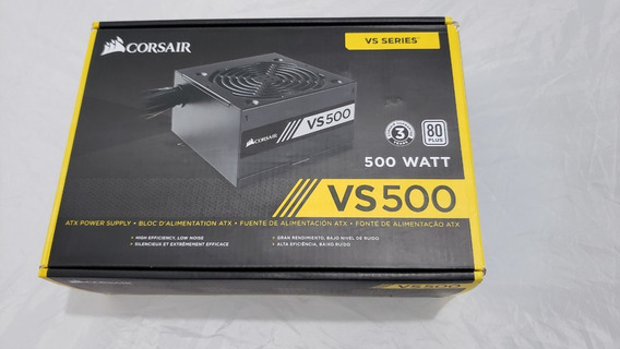 Fonte Corsair Vs500 500watts Pc Gamer 80 Plus