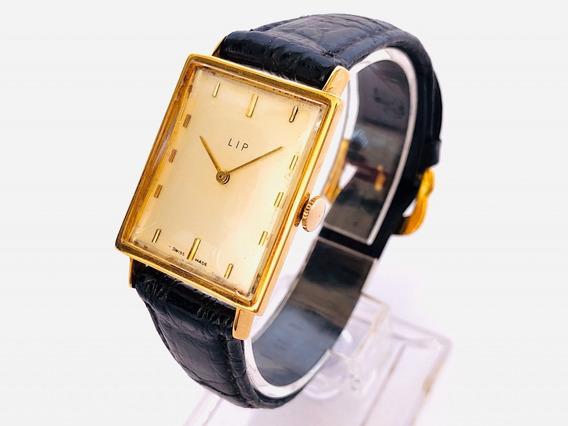 Antigo Relógio De Pulso Lip Ouro 18k 0750 Maciço Cal R192