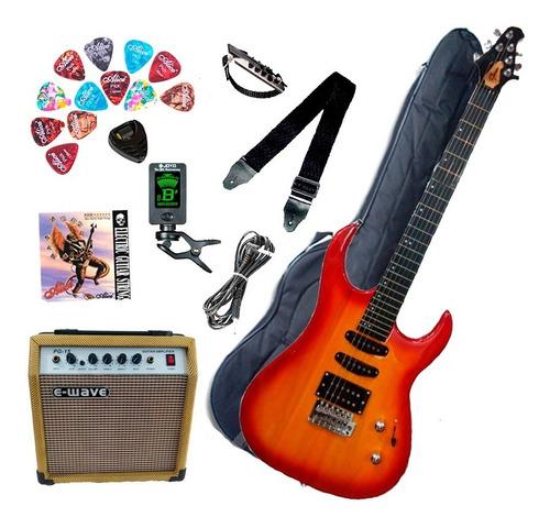Combo Guitarra Eléctrica Con Amplificador 10w Y Accesorios