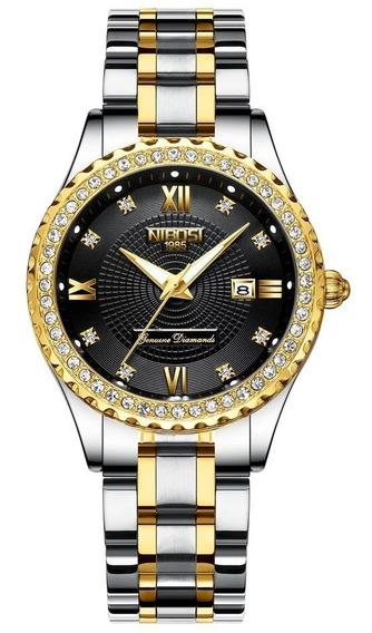 Relógio Feminino Nibosi 2357 De Luxo 100% Original Nf-e