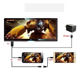 Cable Micro Usb A Hdmi Del Teléfono Al Televisor