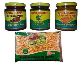 Comida De Los Incas 3 Salsas De Chile Peruano Aji Amarillo-
