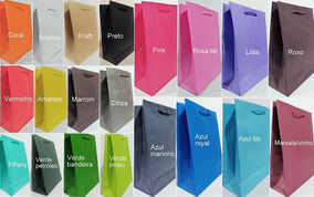 50 -sacolas De Papel Coloridas