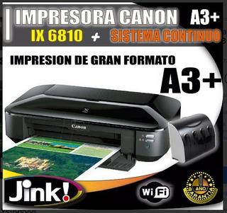Impresora Canon A3+ Ix 681o/ Sistema Continuo Adaptado