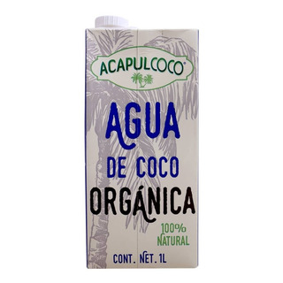 Agua De Coco Orgánica Acapulcoco 6 Botellas De 1 L