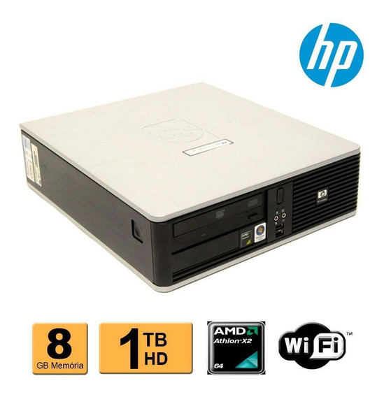 Cpu Hp Compaq Dc5850 Amd Athlon X2 8gb Hd 1tb Wifi
