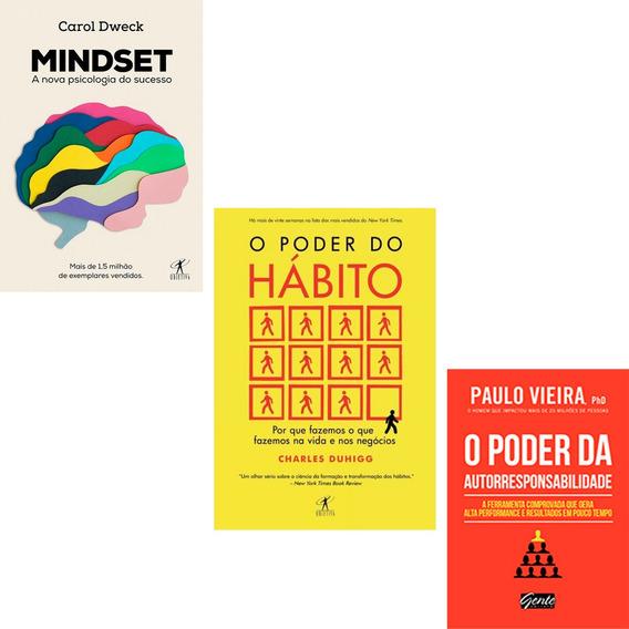 Mindset + O Poder Do Habito+ O Poder Da Autorresponsabilida*