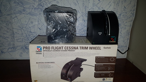Saitek Pro Flight Cessna Trim Wheel Flight Simulator Fs9 Fsx