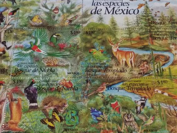 Mexico Block De 25 Sellos. Tema Especies De Mexico . Nuevo