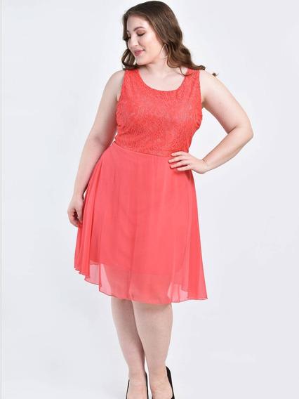 Vestido Encaje Lazo // Talles Grande