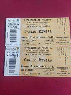 Entradas Para Carlos Rivera Vip Platino