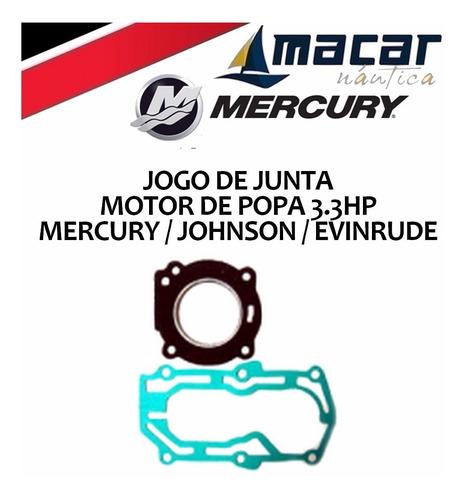 Kit Jogo Juntas Motor De Popa Mercury Evinrude Johnson 3.3hp