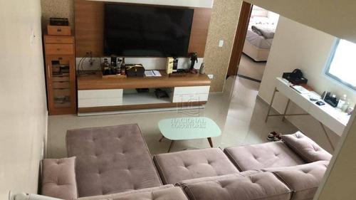 Cobertura Com 3 Dormitórios À Venda, 110 M² Por R$ 690.000,00 - Vila Gilda - Santo André/sp - Co2707