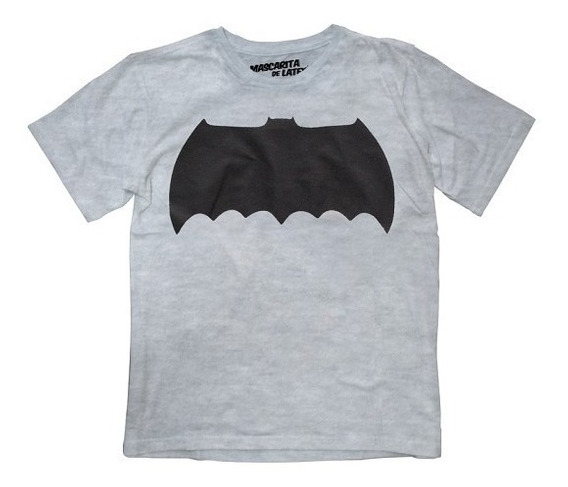 Playera Batman Logo Niño Dc Comics Máscara De Látex