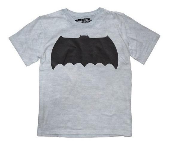 Playera Batman Logo Niño Dc Comics Máscara De Látex