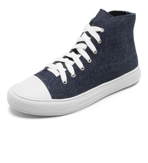 Tênis Santa Lolla Feminino Jeans Azul Cano Médio