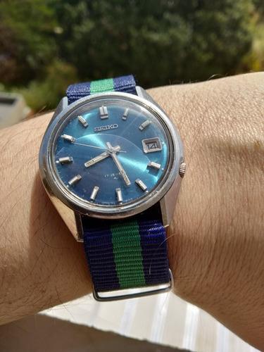 + Bonito Relógio Seiko Azul Automático 7009