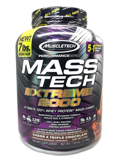 Proteina Mt Mass Tech Extreme 2000 7 Lbs Envio Gratis