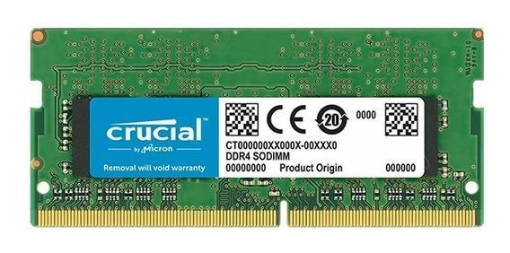 Memoria Notebook Sodimm Ddr4 8gb Crucial 2400mhz (cp4 19200)