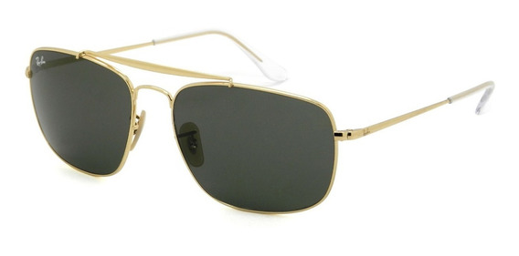 Óculos Ray Ban Rb3560 001 61 -the Colonel - Lente 61mm