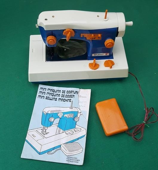 Estrela Antiga Mini Maquina De Costura Azul Na Caixa Y 1