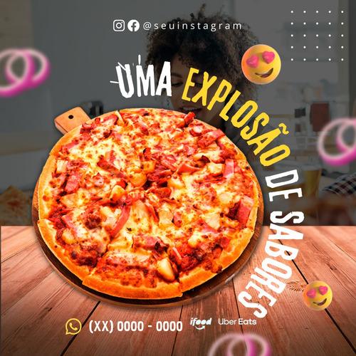 Imagem 1 de 4 de 30 Post Personalizados Para Sua Pizzaria.  Com Sua Logo